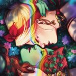 Harley and Ivy staring into each other's eyes DC Pride #1 variant