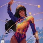 Yara Flore with her armor reflecting light like a prsim - Wonder Girl #2 Pride Variant