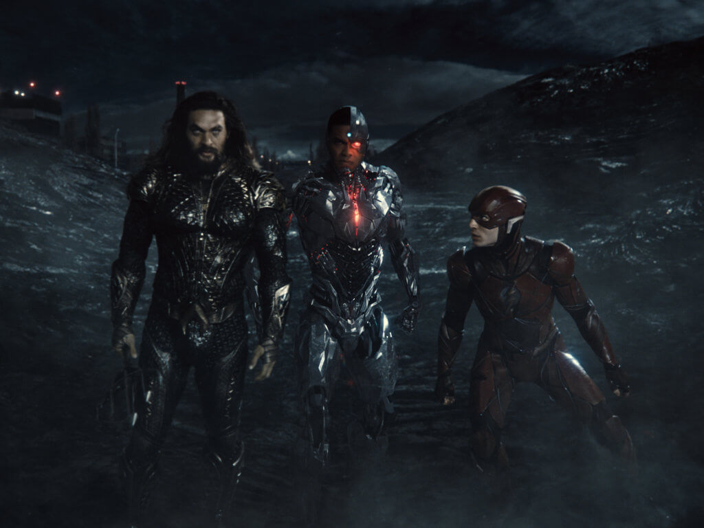 Aquaman, Flash, and Cyborg in the Snyder Cut.