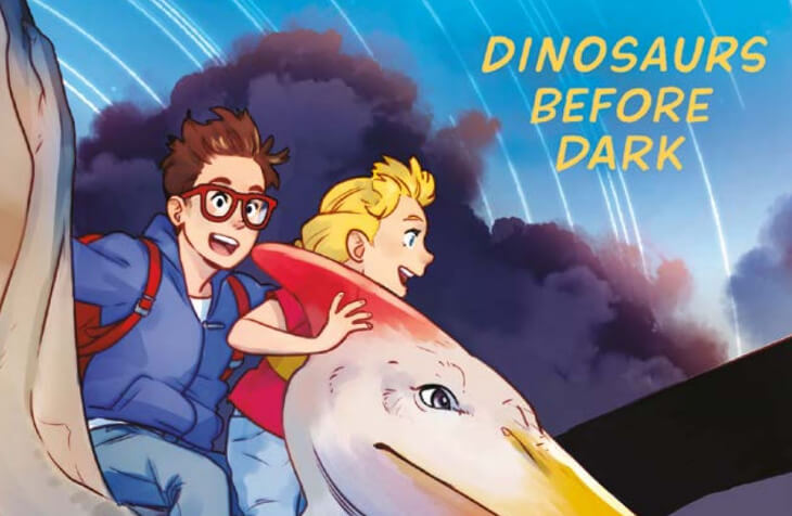 cropped cover of Dinosaurs before Dark Graphic Novel