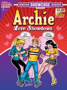Betty and veronica yanked at an alarmed Archie Andrews