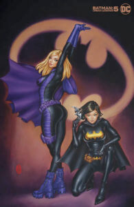 Stephanie Brown stretching and Cassandra Cain crouching