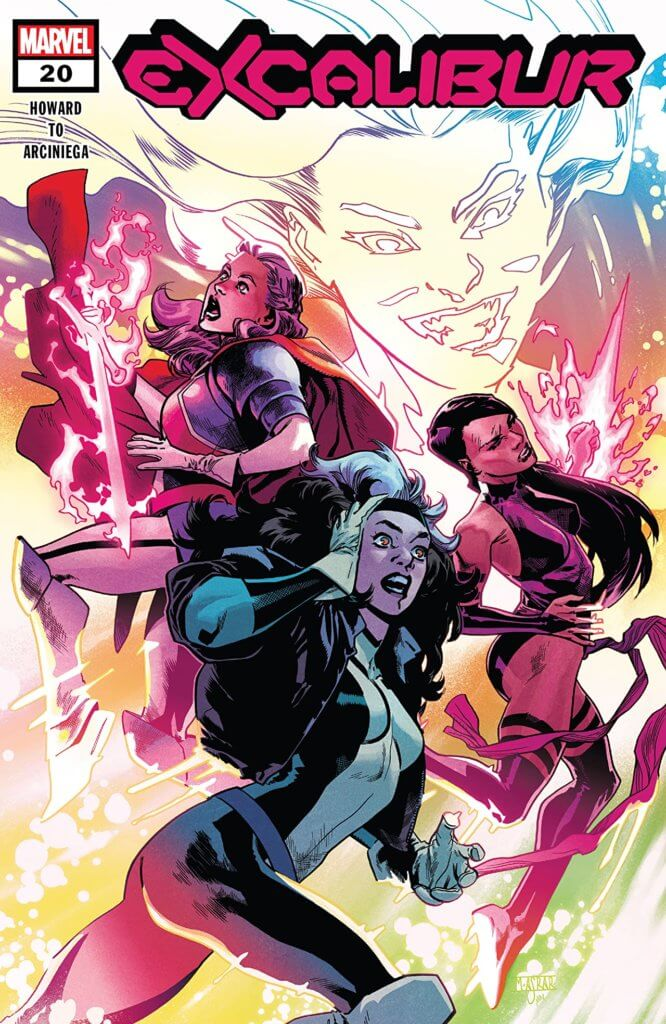 Betsy, Kwannon and Rogue being assaulted by Malice
