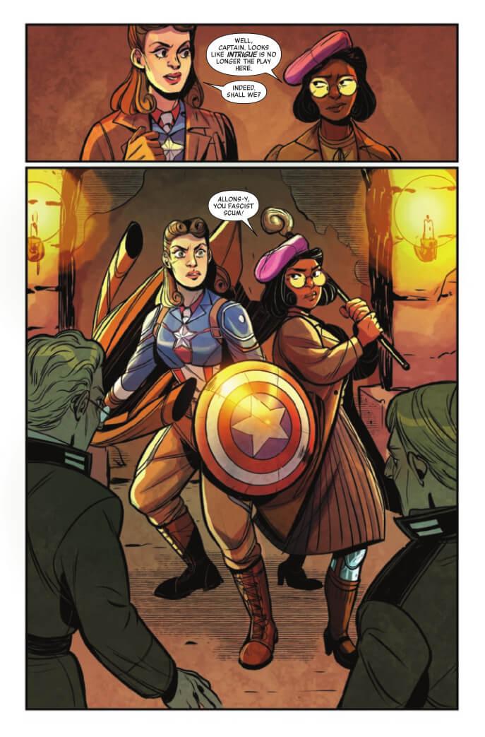 Women of Marvel #1 Page 10. Naomi Franquiz (Artist), Brittany Peer (Colours), Elsa Sjunneson (Writer), Marvel Comics April 21, 2021