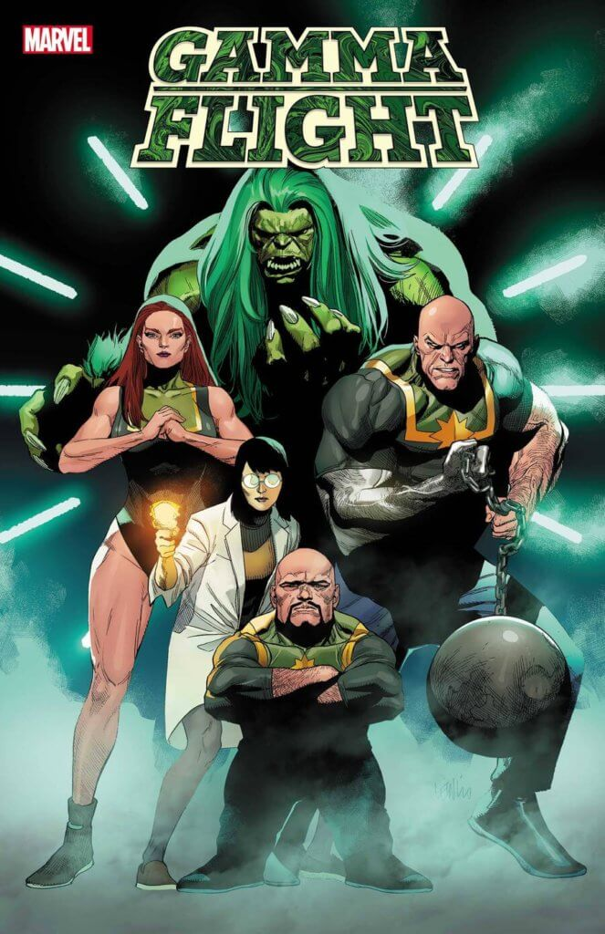 Gamma Flight cover for issue one featuring the book's main cast