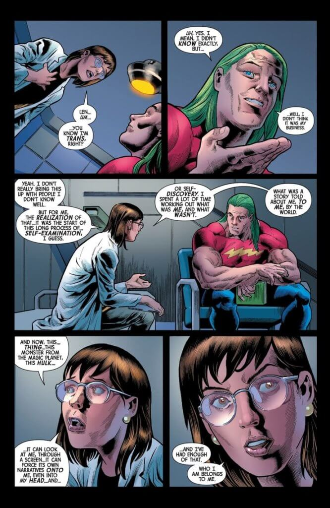 A page from Immortal Hulk #32 featuring Dr. McGowan