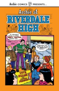 Reggie Mantle lectures his fellow teens on the cover of Archie at Riverdale High Volume 3