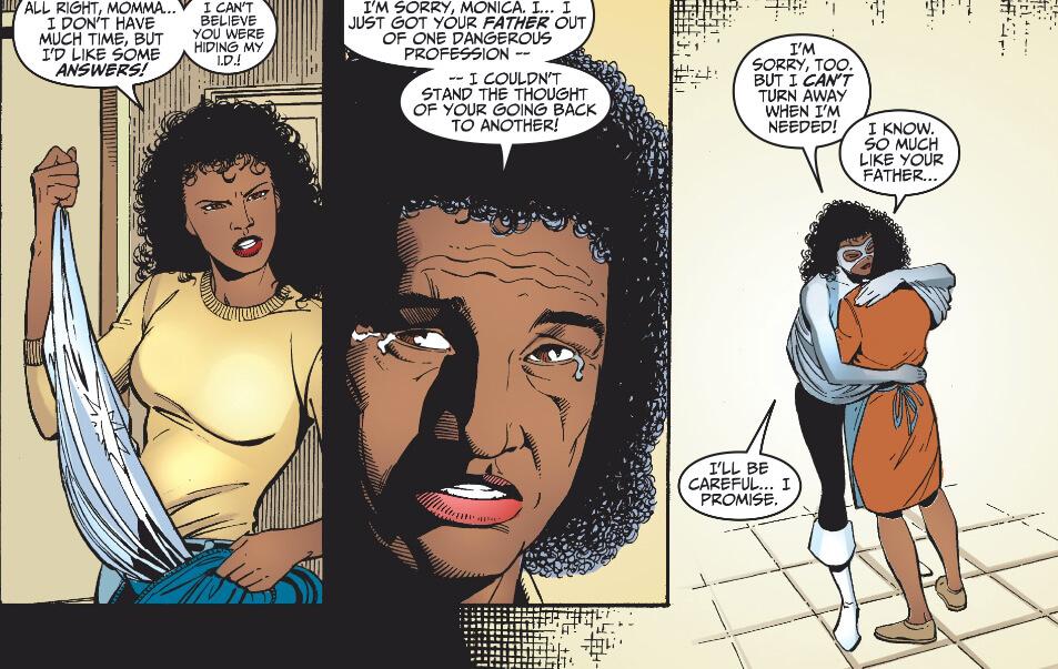Monica Rambeau's mom intercepts her Avenger's calls.