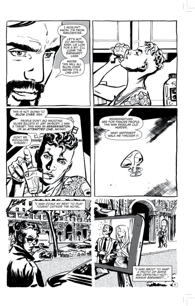 Pages from Black's Myth (AHOY Comics, July 2021)