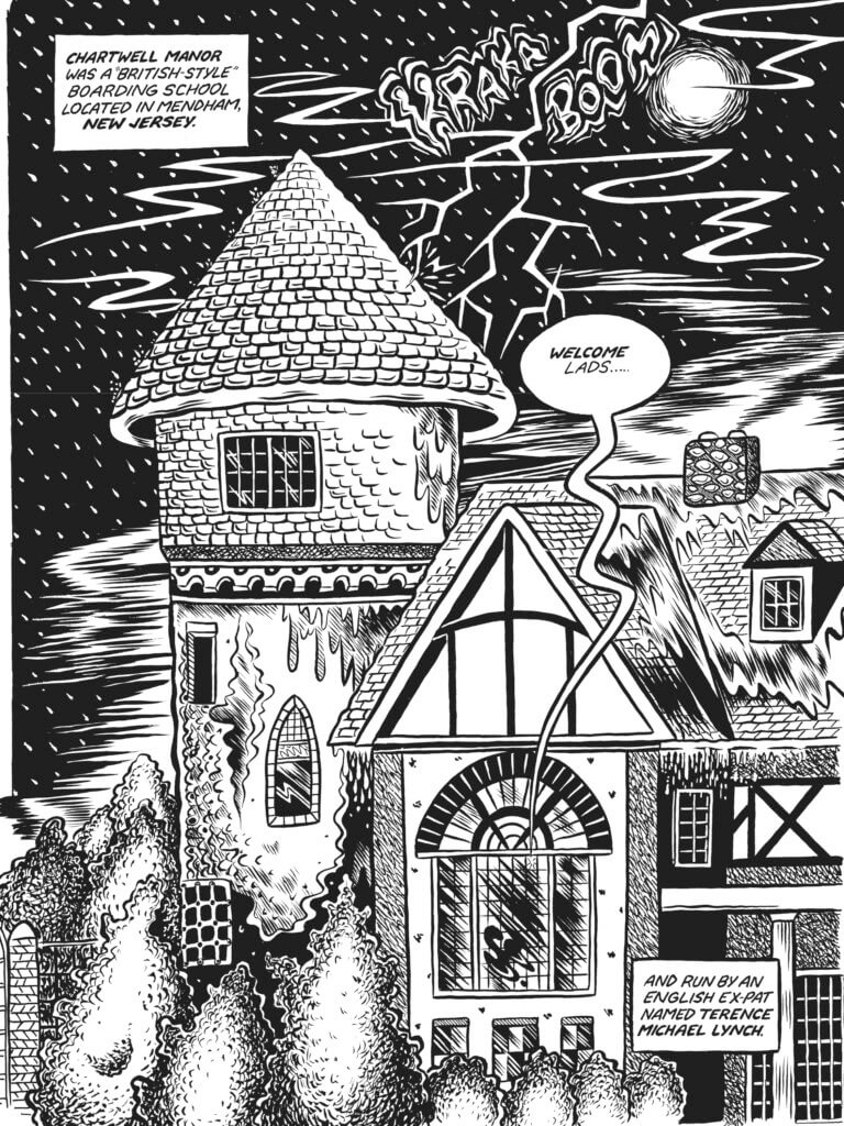 Page from Chartwell Manor by Glenn Head (Fantagraphics, May 2021)