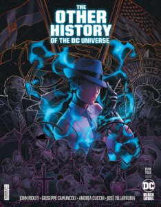 Renee Montoya surrounded by silhouetted images of people and themes from her life - Other History of the DC Universe #4 Cover by Jamal Campbell