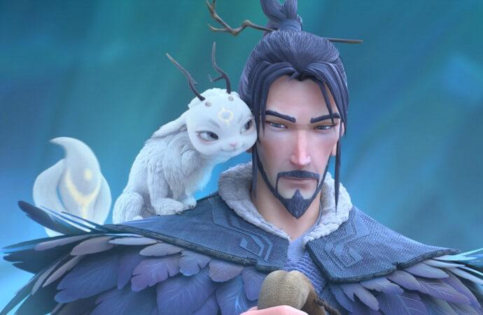 Still from Jiang Ziya showing the main character