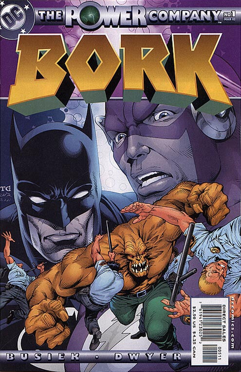 Cover of The Power Company: Bork #1 (DC Comics, March 2002)
