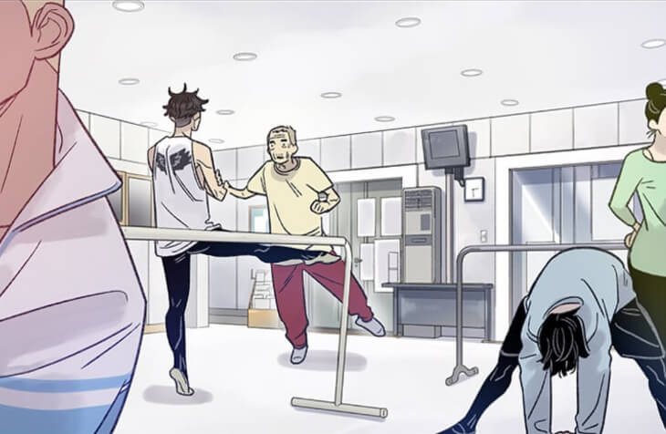 featured image for navillera: like a butterfly review, depicting chaerok and dukchul at the barre practicing together