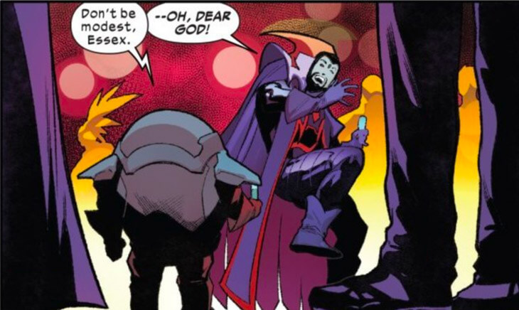 Nanny scaring Sinister in Hellions #12