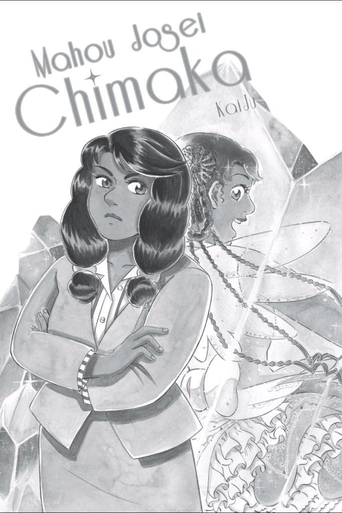 Chimaka and her alter ego Shimmer Shimmer Sky Patcher standing back to back