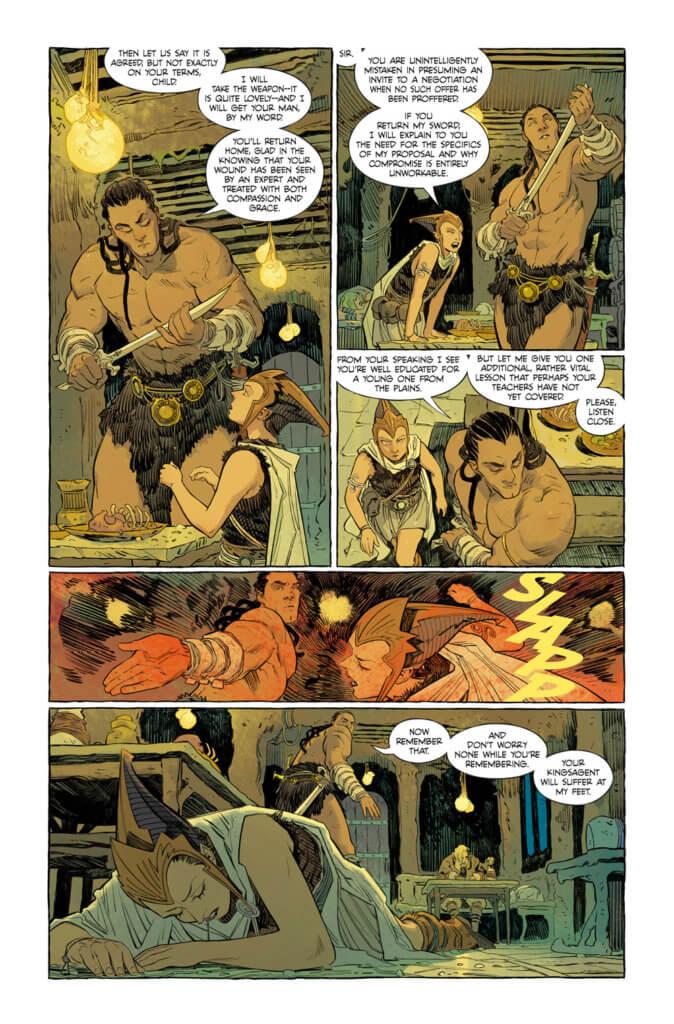 The bounty hunter assaulting Ruthye - Supergirl: Woman of Tomorrow #1