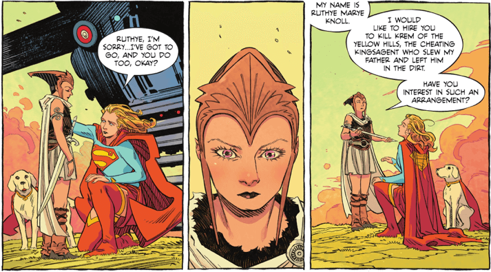 Ruthye asking Supergirl for help