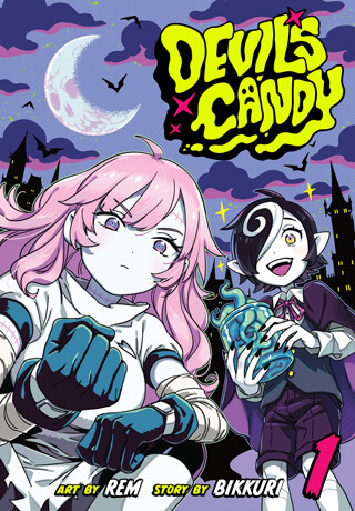 Cover of Devil's Candy Volume 1, depicting Kazu and Pandora.