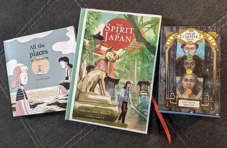 Three books by Liminal 11: All the Things in Between, The Spirit of Japan, The New Chapter Tarot