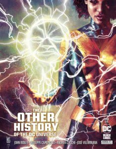 Thunder discharging electricy on the cover of The Other History of the DC Universe #5