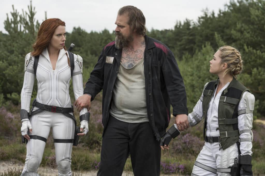 Natasha, Alexei, and Yelena in 'Black Widow.'