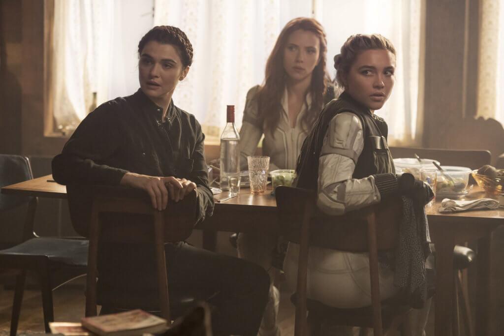 Natasha, Yelena, and Melina in Black Widow.