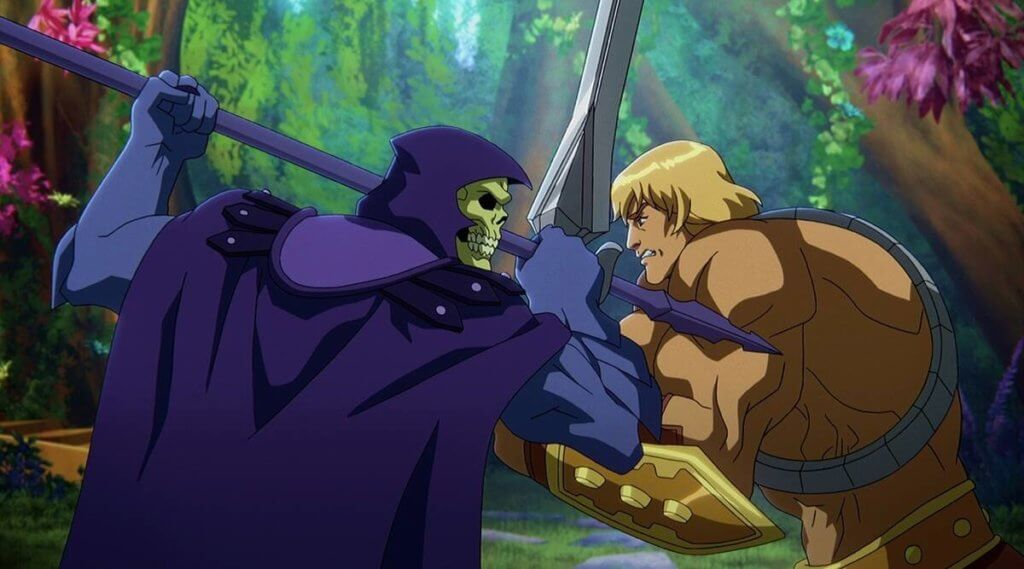 Skeletor and He-Man clash in battle