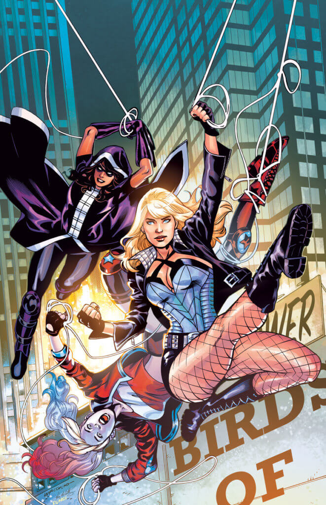 Huntress, Harley Quinn, and Black Canary swing into action