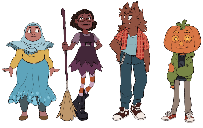4 young supernatural teen characters