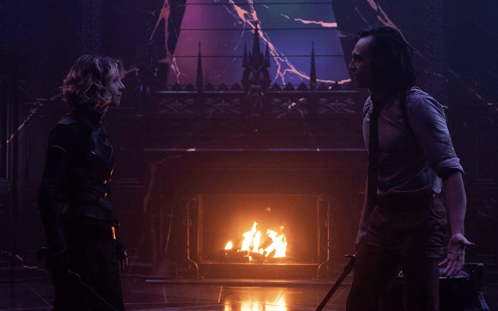 Sylvie and Loki argue in the Loki finale.