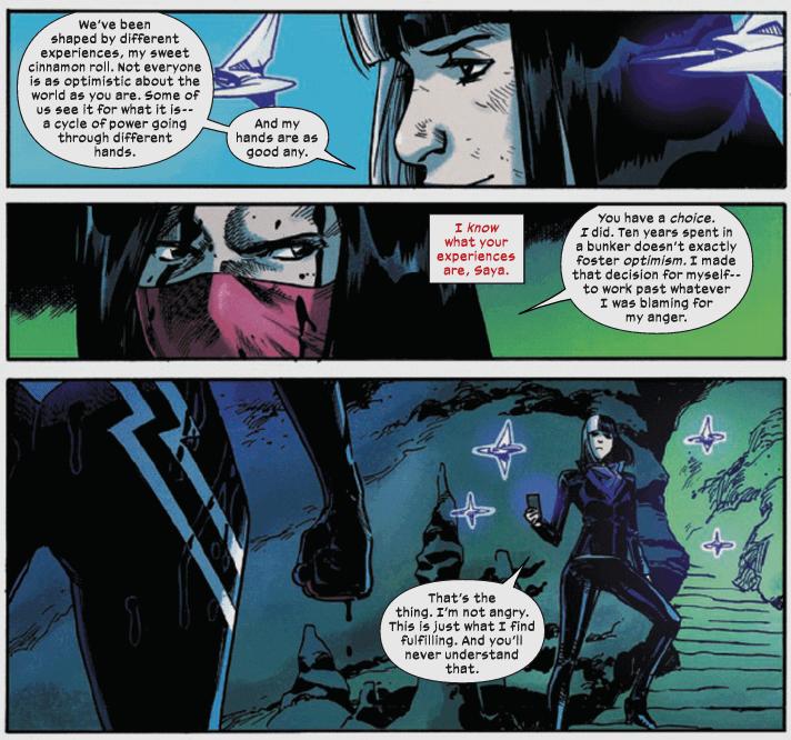 Silk and Saya Ishii discuss Saya's motives