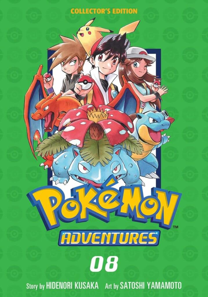 Pokemon Trainers Red, Blue, And Green Standing With Their Pokemon