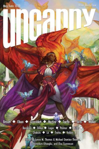 Cover of Uncanny Magazine issue 34