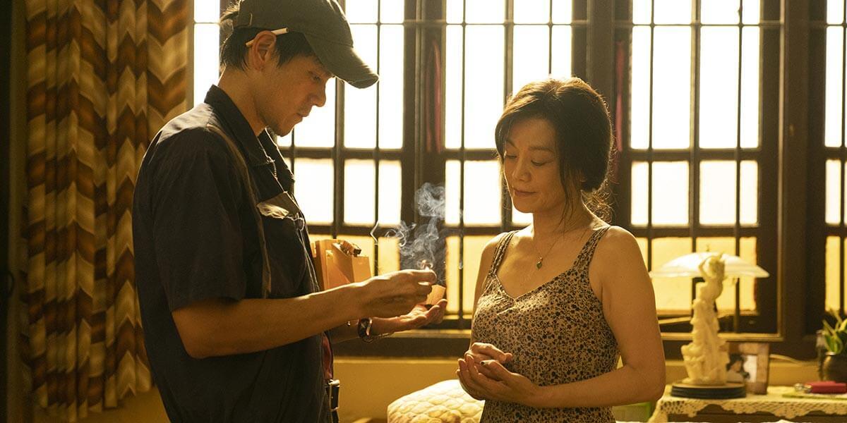 Re Dai Wang Shi (Are You Lonesome Tonight?) Wen Shipei (Director), Zhao Binghao (Writer), Wang Yinuo (Writer), Wen Shipei (Writer), Noé Dodson (Writer), Andreas Thalhammer (Cinematography), Xiaosu Han (Cinematography), Cedric Cheung-Lau (Cinematography), Zhang Heng (Cinematography), Zhu Lin (Editor), Will Wei (Editor), Dong Jie (Editor), Noé Dodson (Editor), Cao Hangchen (Editor) Eddie Peng, Sylvia Chang, Wang Yanhui, Zhang Yu, Jiang Peiyao, Lu Xin, Chen Yongzhong, Deng Fei (Cast) September 12, 2021 Image credit: Courtesy of TIFF