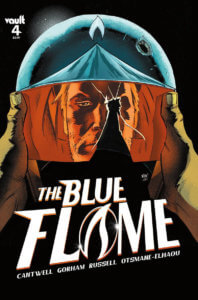 Cover of The Blue Flame #4 (Vault Comics, August 2021)