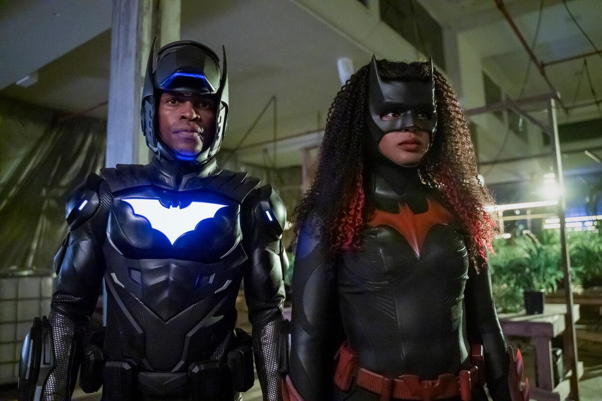 Camrus Johnson as Batwing and Javicia Leslie as Batwoman.