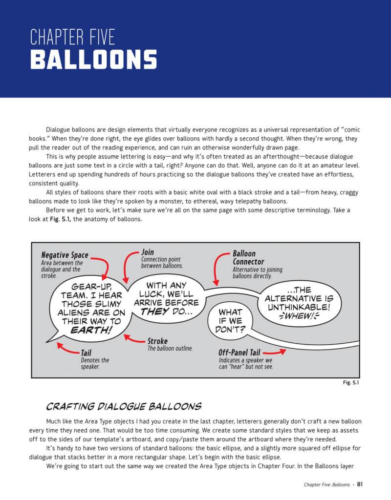 A description of word balloons